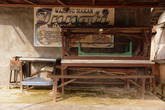 Closed Warung or Streetside Restaurant (Kumai, Kalimantan, Borneo, Indonesia)
